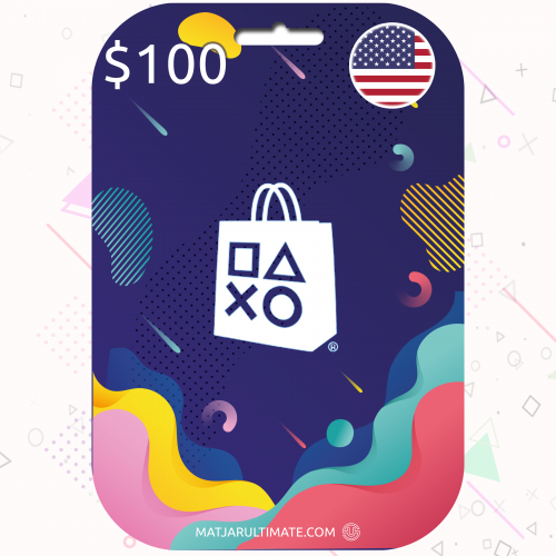 100 دولار - كود بلايستيشن ستور أمريكي